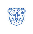 leopard head line icon concept leopard head flat vector image vector image