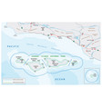 map channel islands national park vector image vector image