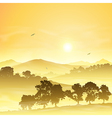 Misty landscape vector | Price: 1 Credit (USD $1)