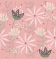 modern floral seamless pattern vector image vector image