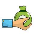 money saving bag vector image vector image