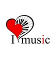music heart with text vector image