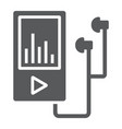 Music player glyph icon electronic and device