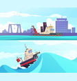 nautical horizontal banners vector image vector image