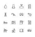 oil industry - flat line icons vector image