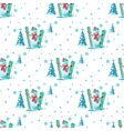 pattern Christmas theme vector image vector image