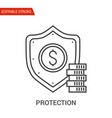 protection icon thin line vector image vector image