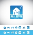 Real estate house logo 3d icon vector image