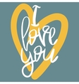 Romantic decorative poster with lettering vector image vector image