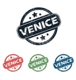 Round Venice city stamp set vector image vector image