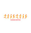 running and jogging people sport run people vector image