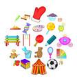 schoolboy icons set cartoon style vector image vector image
