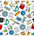 Science and knowledge seamless wallpaper vector image vector image