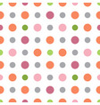 seamless pastel vintage pattern with colorful vector image vector image