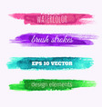 set of watercolor paint texture banners vector image vector image