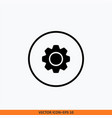 setting gear icon round button icon for your vector image