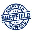 sheffield blue round grunge stamp vector image vector image