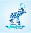 songkran festival in thailand vector image vector image