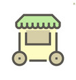 store front icon design for shopping graphic vector image
