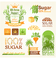 Sugar labels emblems and icons for design vector image