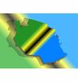 Tanzania and abstract flag vector image vector image