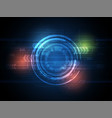 tech circle and technology background speed vector image vector image