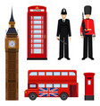 Traditional london sightseeing set