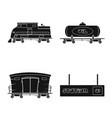 train and station sign set vector image