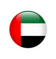 united arab emirates flag on button vector image