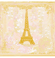 vintage retro Eiffel tower card vector image