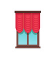 window template cute red blind colorful banner vector image vector image