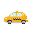 yellow taxi cab auto flat modern vector image vector image