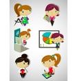 Cartoon girls vector image