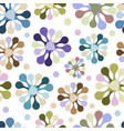 seamless pattern of flowers of unusual pastel vector image