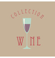 wine glass sign vector image