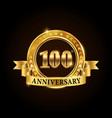 100 years anniversary celebration logotype vector image vector image