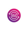 360 degrees icon vector image vector image