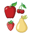 8-Bit Fruit Icons vector image vector image