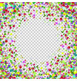 abstract background with falling multicolored vector image vector image