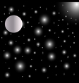 Abstract bright falling star vector image