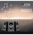 Abstract Night Music Notes Speaker Background vector image