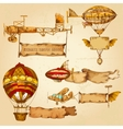 Airships With Banners vector image vector image