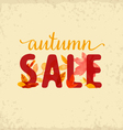 Autumn Sale Design Element vector image vector image