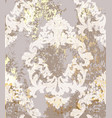 baroque pattern background ornamented vector image vector image