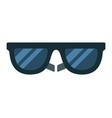 black sunglasses flat isolated vector image