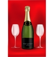 bottle of champagne vector image vector image