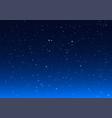 bright stars in blue dark night sky vector image vector image