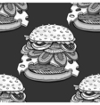 cartoon style hamburgers vector image