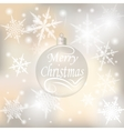 Christmas New Year festive background for vector image vector image