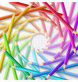 circle of colored pencils vector image vector image